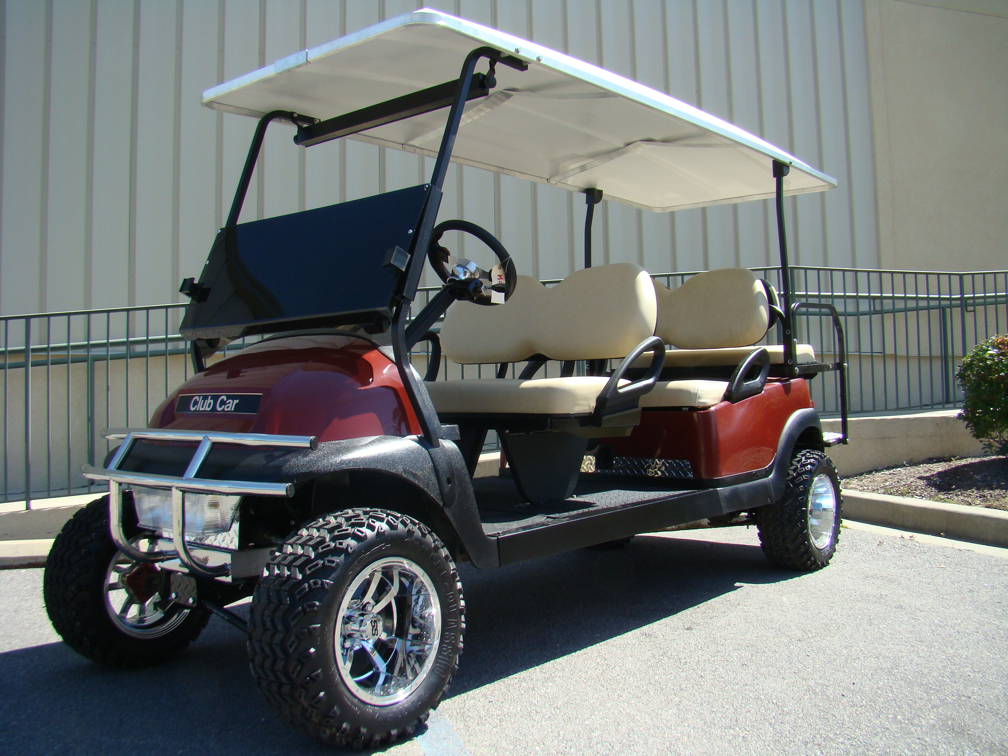 Burgundy Limo Lifted Golf Cart Precedent Electric 48 Volt