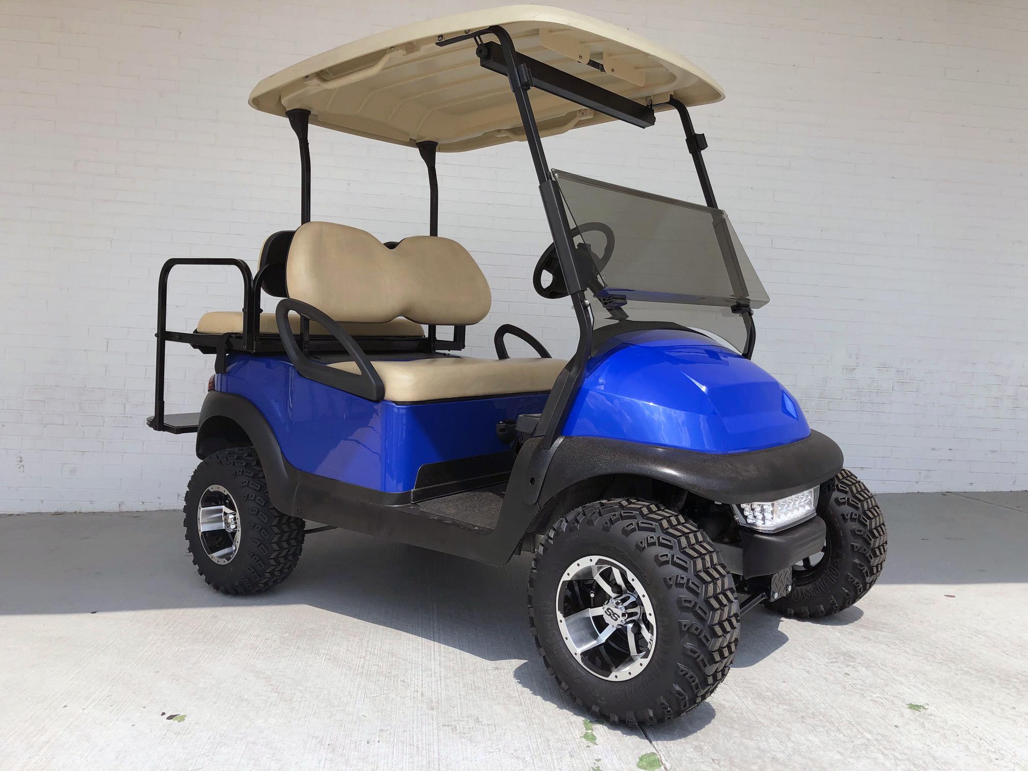 Blue 4 Inch Lifted Club Car Golf Cart | Golf Carts - Lifted