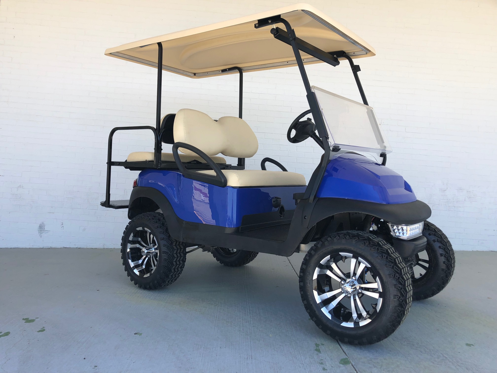 Blue Extended Top Lifted Club Car Precedent