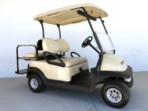 Beige Club Car Precedent Golf Cart Tidewater Carts 02