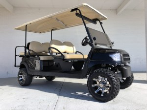 Black Alpha Club Car Precedent Limo Six Passenger Golf Cart 03