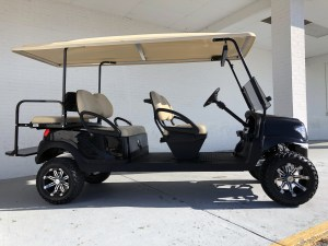 Black Alpha Club Car Precedent Limo Six Passenger Golf Cart 04