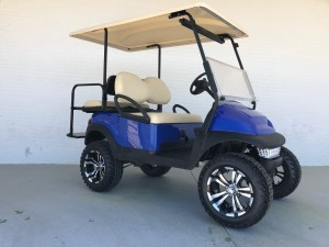 Blue Lifted Car Precedent Golf Cart Extended Top 01