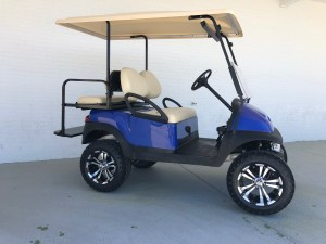 Blue Lifted Car Precedent Golf Cart Extended Top 02