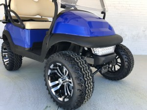 Blue Lifted Car Precedent Golf Cart Extended Top 03