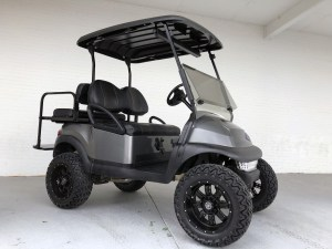 CLUB CAR GAS GOLF CARTS FOR SALE CHARCOAL LIFTED SC NC GA FL VA MD OH AL 01
