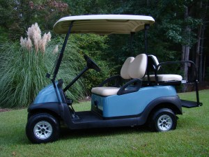 Light Blue Club Car Precedent Golf Cart Black Friday Sale Tidewater Carts SC NC GA FL 01